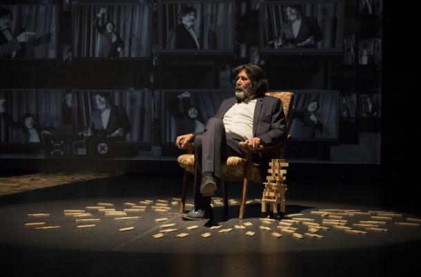 """Actor Lassaad Jamoussi in """"Ce que le Dictateur n'a pas Dit"""" directed by Meriem Bousselmi."""